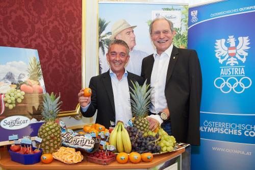 SanLucar und ÖOC: Unterzeichnung Olympia-Partnerschaft und Präsentation der Studie Lust auf Obst