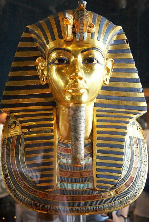 Totenmaske des Tutanchamun im Ägyptischen Museum Kairo
