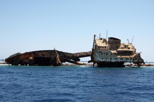 Schiffswrack Louilla in der Straße von Tiran